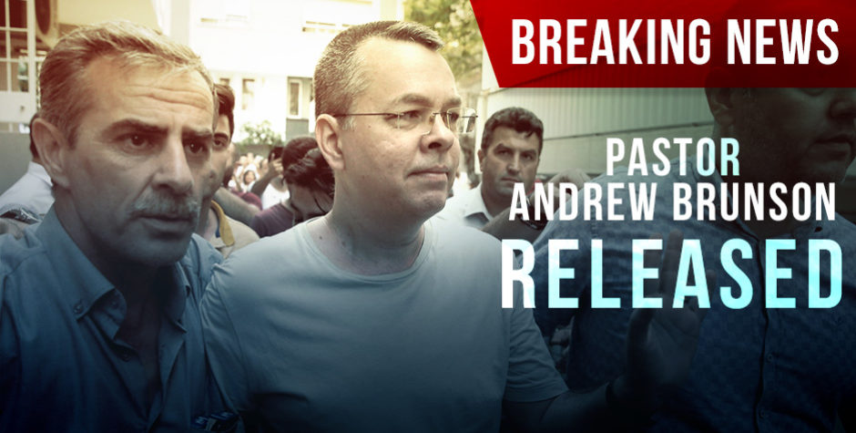 BREAKING: American Pastor Andrew Brunson Has Just Been Released | American Center for Law and Justice