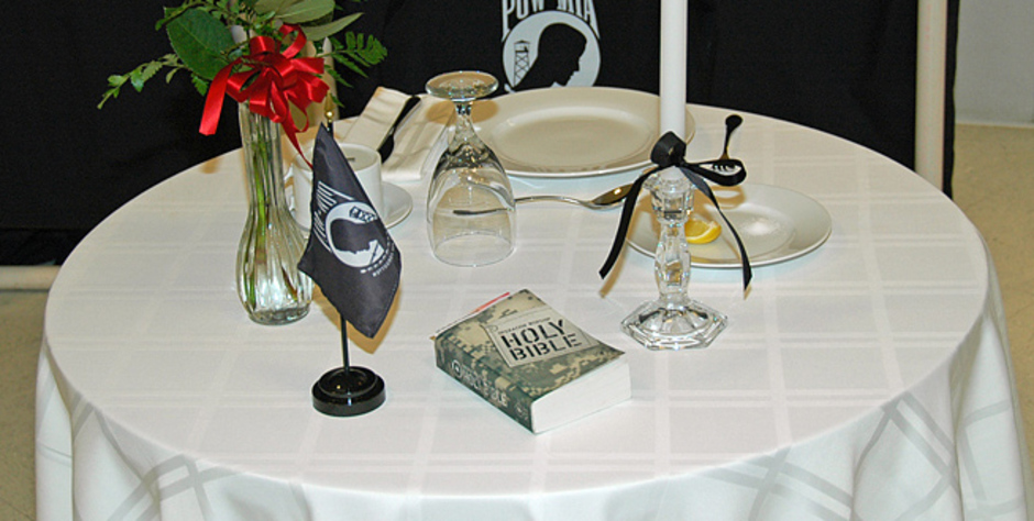 Phenomenal Pow Mia Table Setting Angry Atheists Attack The Bible And Download Free Architecture Designs Momecebritishbridgeorg