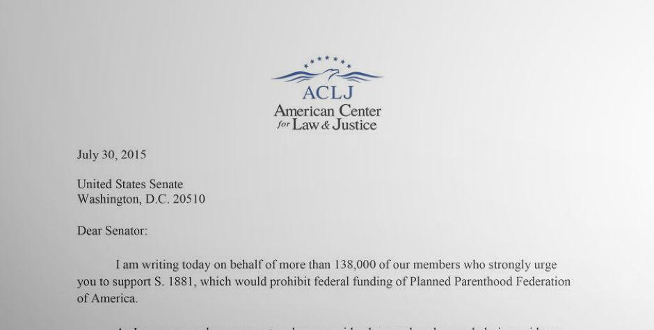 Sending the Senate an Urgent Message: Defund Planned Parenthood ...