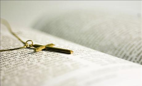 Cross Necklace &amp; Bible