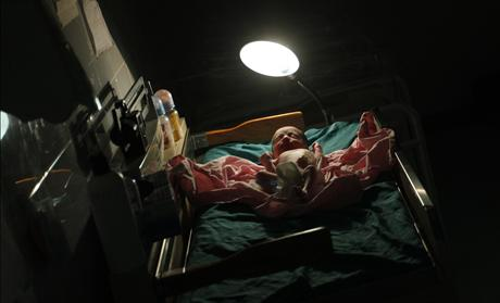 A baby is seen minutes after he was born at the pediatric unit at hospital Escuela in Tegucigalpa