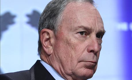 New York Mayor Bloomberg listens to his introduction before speaking at the 2012 Winter Meeting of The United States Conference of Mayors in Washington