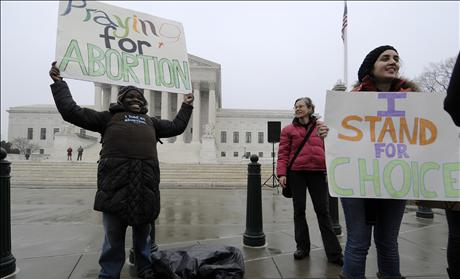 pro-abortion protesters urge prayer