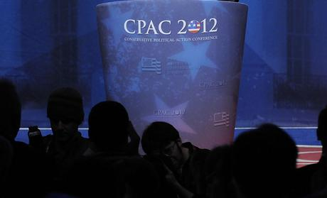 Gingrich waves after speaking at the Conservative Political Action Conference (CPAC) in Washington