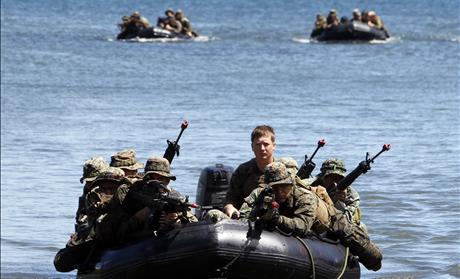 U.S. marines amphibious raid