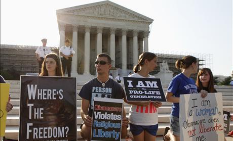Pro-life Demonstrators at Supreme Court