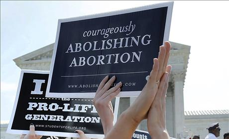Pro-life demonstrators at Supreme Court celebrate HHS Mandate victory