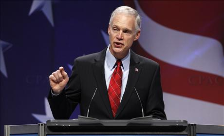 U.S. Senator Johnson speaks to the 38th annual Conservative Political Action Conference meeting at the Marriott Wardman Park Hotel in Washington
