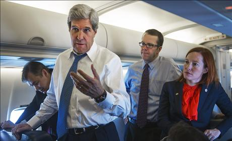 U.S. Secretary of State John Kerry delivers a statement