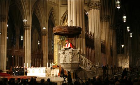 Cardinal Dolan at St. Patricks Cathedral in NY