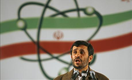 Iran's President Ahmadinejad speaks during a ceremony at the Natanz nuclear enrichment facility