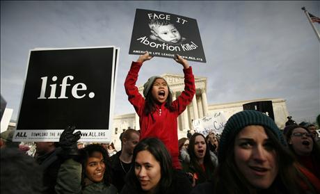 prolife girl at Supreme Court