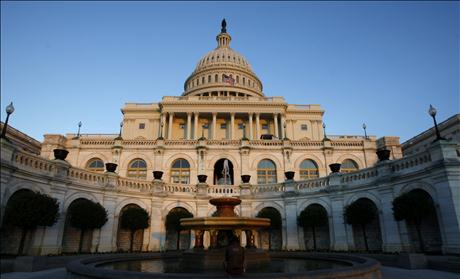 The U.S. Capitol is seen the day before mid-term elections in Washington