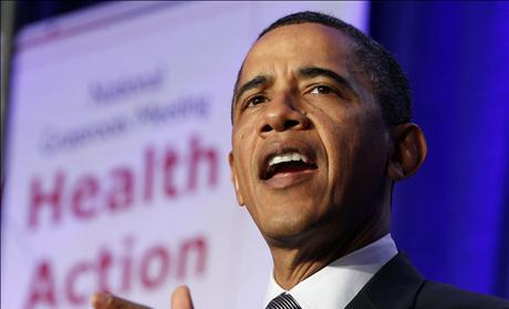 U.S. President Barack Obama speaks to the Families USA's 16th annual Health Action Conference at the Hyatt Regency Washington on Capitol Hill in Washington