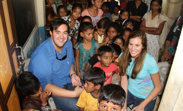 Jordan and Anna Sekulow at the Pehechaan Children&#39;s Ministry in India
