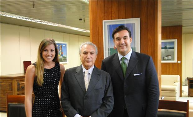 Jordan and Anna Sekulow with Michel Temer VP of Brazil Discussing Youcef Nadarkhani