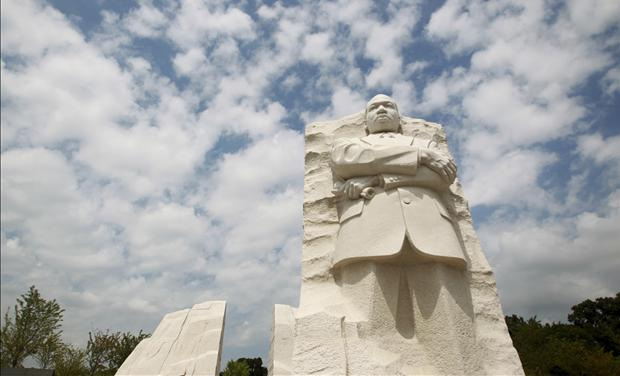The Martin Luther King, Jr. National Memorial is seen in Washington