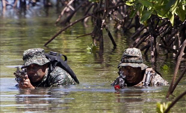 U.S. marine amphibious raid