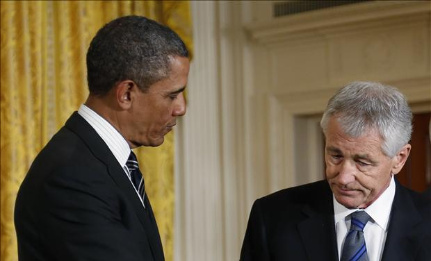 President Obama with Chuck Hagel