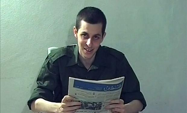 Captured Israeli soldier Gilad Shalit is seen in this video grab