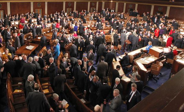 The 112th Congress convenes in the House Chamber in the U.S. Capitol in Washington