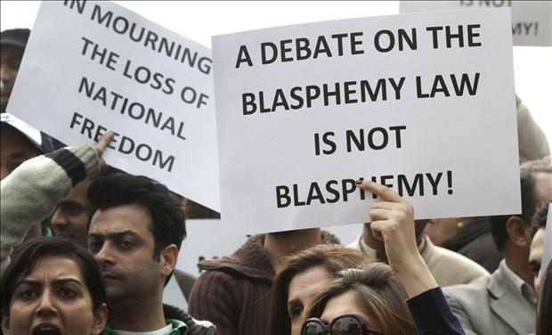 Protesting Pakistan's blasphemy laws