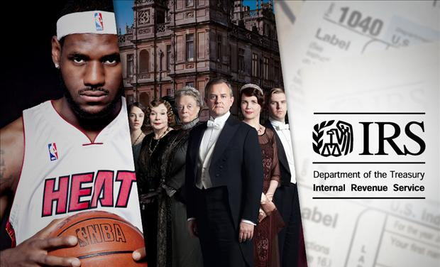 Lebron, Downton, IRS