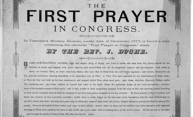 The First Prayer in Congress 1777 Text
