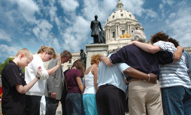 Group Praying around the Capital