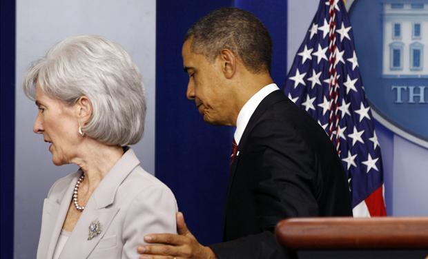 Obama & Secretary Sebelius