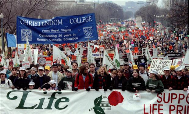 ANTI ABORTION MARCH BEGINS ON CONSTITUTION AVENUE