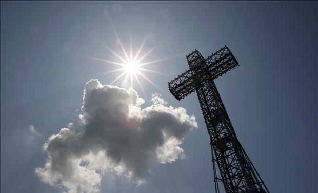 A view of the Mount Royal Cross in Montreal