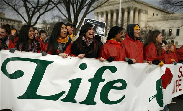 People march in 37th annual March for Life marking the anniversary of the Supreme Court's 1973 Roe v. Wade abortion decision in Washington