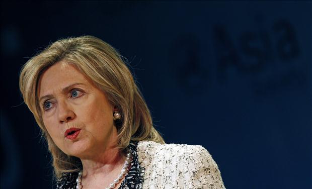 U.S. Secretary of State Hillary Clinton speaks at the inaugural Richard C. Holbrooke address at New York's Asia Society