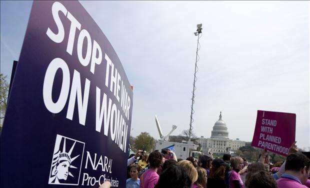 More than 20 organizations hold a rally in supporting preventive health care and family planning services in Washington