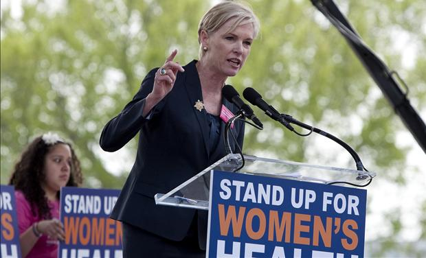 Cecile Richards speaks at a &quot;Stand Up for Women&#39;s Health&quot; rally in Washington