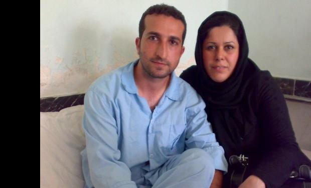 Pastor Youcef Nadarkhani with is wife Tina in Prison