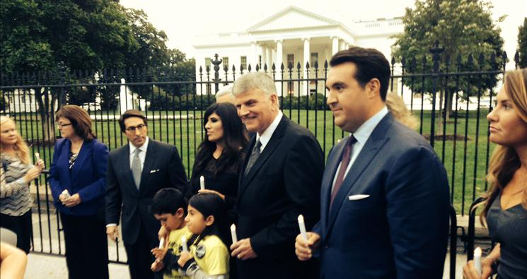 Franklin Graham, Pastor Saeed's wife, ACLJ Kick Off Vigils