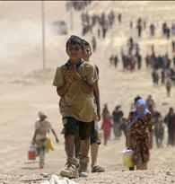 Tens of thousands of Yazidis and Christians flee