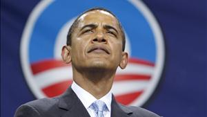 U.S. Democratic Presidential nominee Obama is pictured during a rally in Bristow